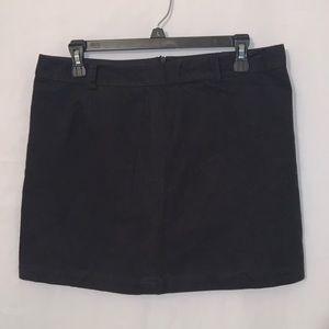 Kate Spade Saturday Black Cotton Mini Skirt